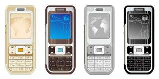 Cellphone. S on the white background Stock Illustration