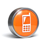 Cellphone - 3D button Stock Images