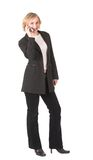 Cellphone #4. Business woman talking on cell phone Royalty Free Stock Photos