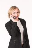 Cellphone #5. Business women talking on cell phone Royalty Free Stock Image