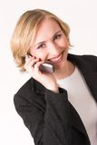 Cellphone #6. Business woman talking on cell phone Royalty Free Stock Photography