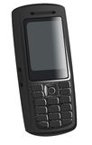 Cellphone. Illustration of the black cellphone on white background Royalty Free Stock Images