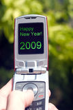 Cellphone. Abstract image of new year stock images