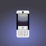 Cellphone. An illustrated view of a modern mobile phone or cellphone on a gradient background Royalty Free Stock Photo