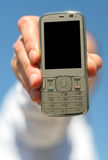 Cellphone. In hand for advertisement Stock Photo