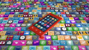 Cellphone and applications stock video