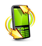 Cellphone with arrows Stock Photo