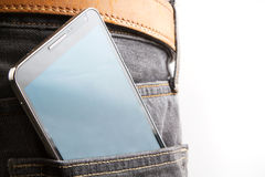 Cellphone in back pocket Royalty Free Stock Photo