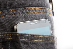 Cellphone in back pocket Stock Images