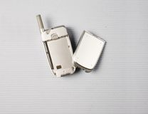Cellphone and Battery Stock Image