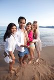 Cellphone Beach Friends Royalty Free Stock Photos