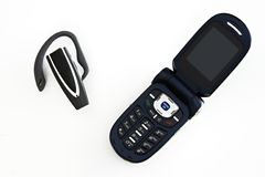 Cellphone and Bluetooth Royalty Free Stock Image
