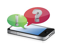 Cellphone and bubble speech icon Royalty Free Stock Image