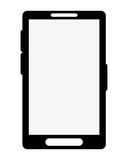 cellphone with buttons icon design Stock Photos