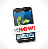 Cellphone - call me now Royalty Free Stock Photography