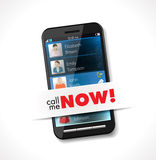 Cellphone - call me now. Concept Royalty Free Stock Image