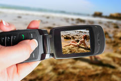 Cellphone camera stock image