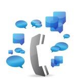 A cellphone chat concept illustration design Stock Photos