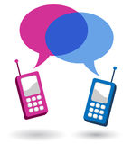 Cellphone conversation Royalty Free Stock Photo
