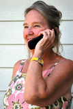 Cellphone conversation. Royalty Free Stock Photos