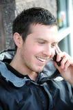 Cellphone conversation. Stock Photo