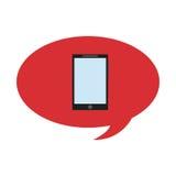 cellphone conversation bubble Stock Photos