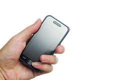 Cellphone in a hand Stock Photography
