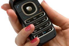 Cellphone in hand 2 Royalty Free Stock Photos