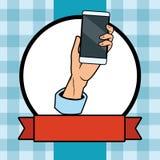 cellphone hand holding διανυσματική απεικόνιση