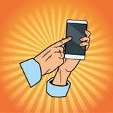 cellphone hand holding απεικόνιση αποθεμάτων