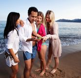 Cellphone Holiday Beach Stock Image