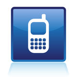 Cellphone icon Royalty Free Stock Image