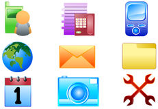 Cellphone Icons Royalty Free Stock Images