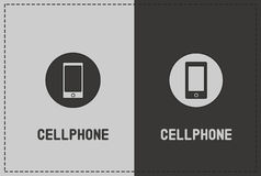 Cellphone Illustration. A clean and simple cellphone illustration Stock Image