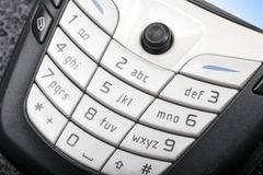 Cellphone keypad. Close-up of modern cellphone keypad Royalty Free Stock Photo