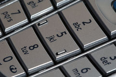 Cellphone keypad. Macro view of keypad of modern cellphone or mobile phone Royalty Free Stock Photo