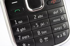 Cellphone keypad. Close up of a cellphone keypad Royalty Free Stock Photo