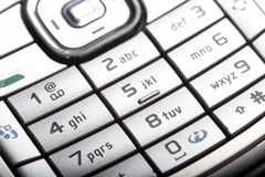 Cellphone Keys Royalty Free Stock Images