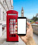 Cellphone in londo Royalty Free Stock Photo