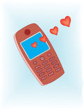 Cellphone love message Royalty Free Stock Photo