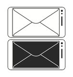 Cellphone mailing Message icon vector template Royalty Free Stock Photography