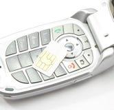 Cellphone met Kaart Sim Royalty-vrije Stock Foto's