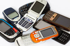 Cellphone or mobile phone. Old cellphone or mobile phone Royalty Free Stock Image