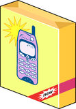 Cellphone packaging box Royalty Free Stock Photo