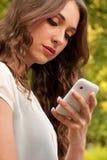 Cellphone in park Stock Photos