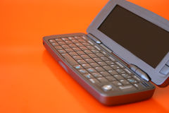 Cellphone PC. New technology Flip-open cellphone with keyboard Stock Photo