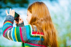 Cellphone Pictures Taking Stock Photography