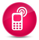 Cellphone ringing icon elegant pink round button Royalty Free Stock Photography