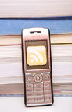 Cellphone with rss Stock Image