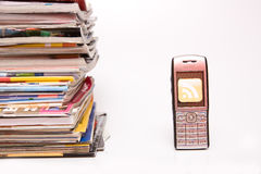 Cellphone with rss Stock Photos
